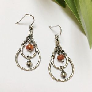 EUC SILPADA Sterling Coral Tiered Earrings